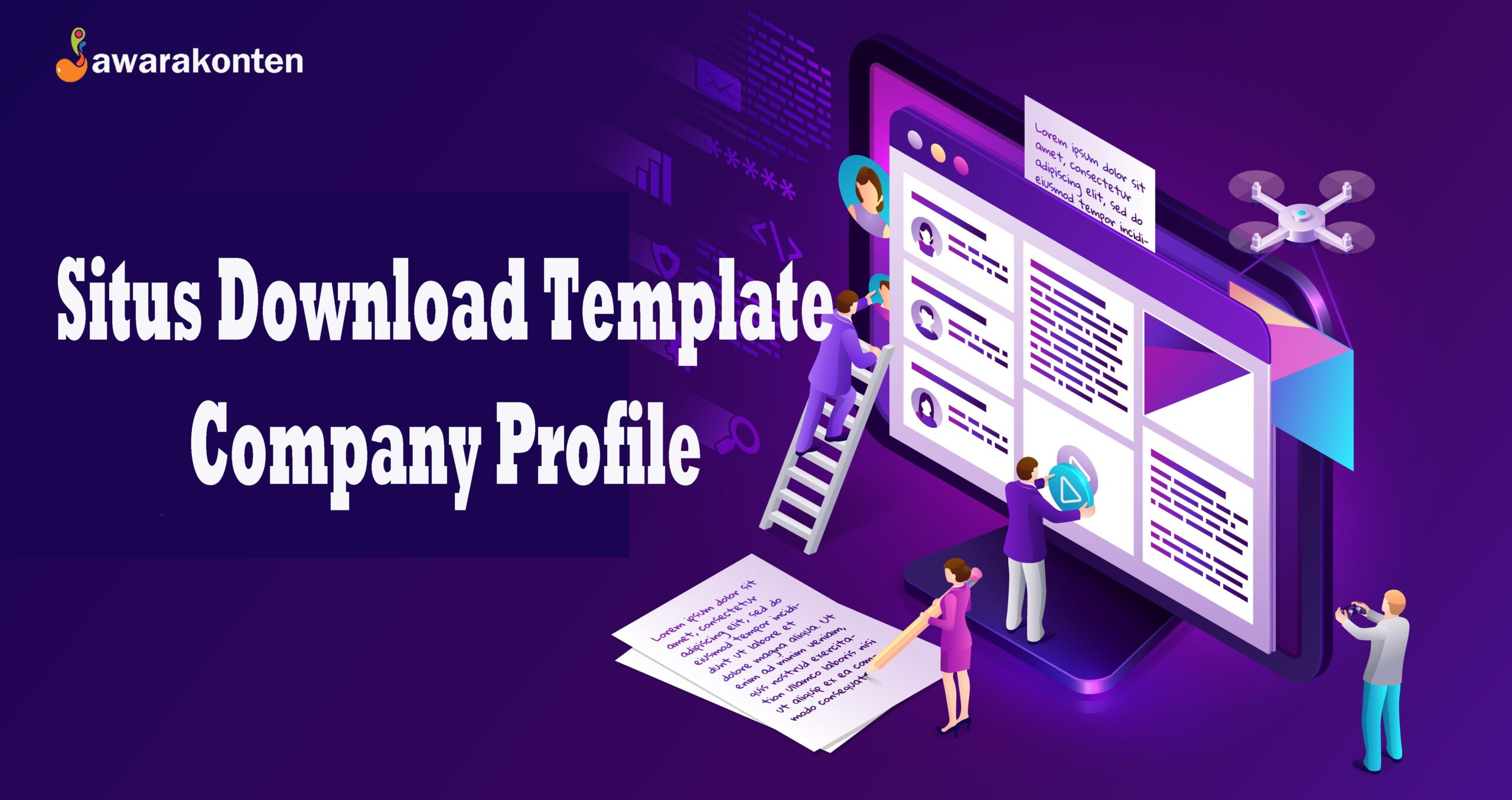 situs download template company profile
